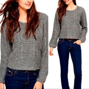 Superdry Crop Chunky Cable Knit Mohair Sweater